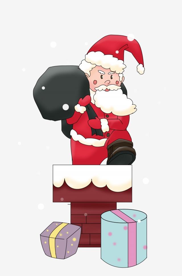 Gifts clipart hand holding. Christmas santa illustrator black