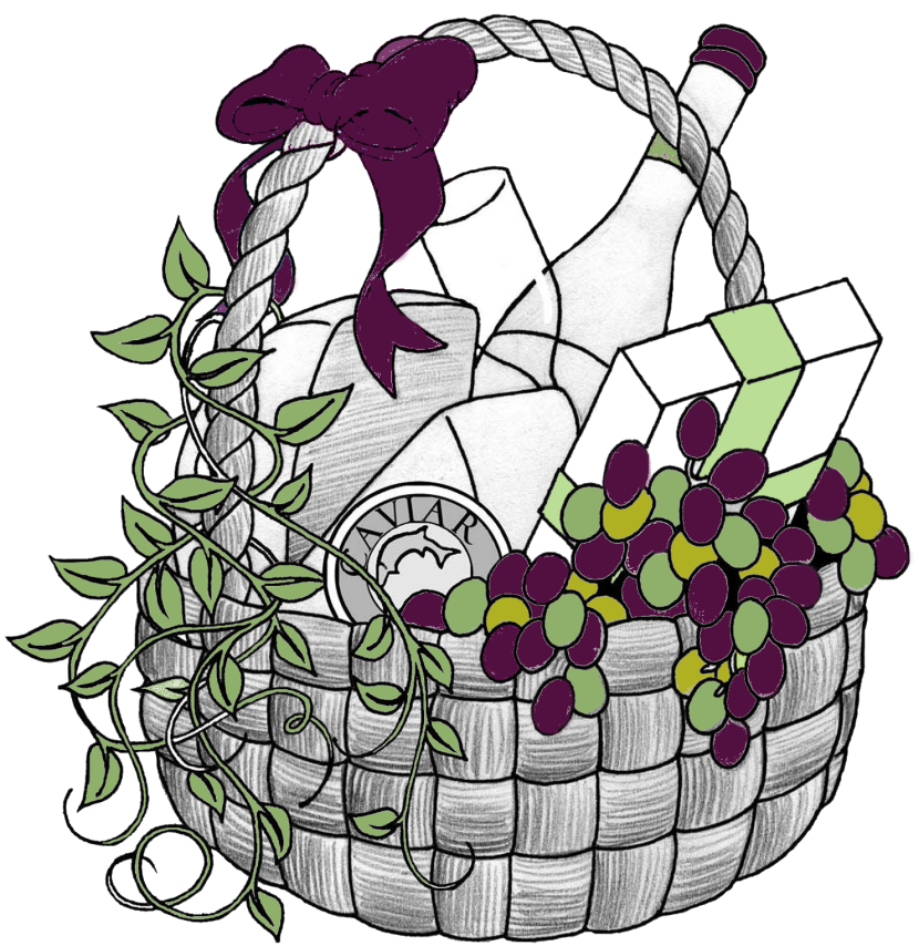 Gifts clipart line art. Gift basket t baskets