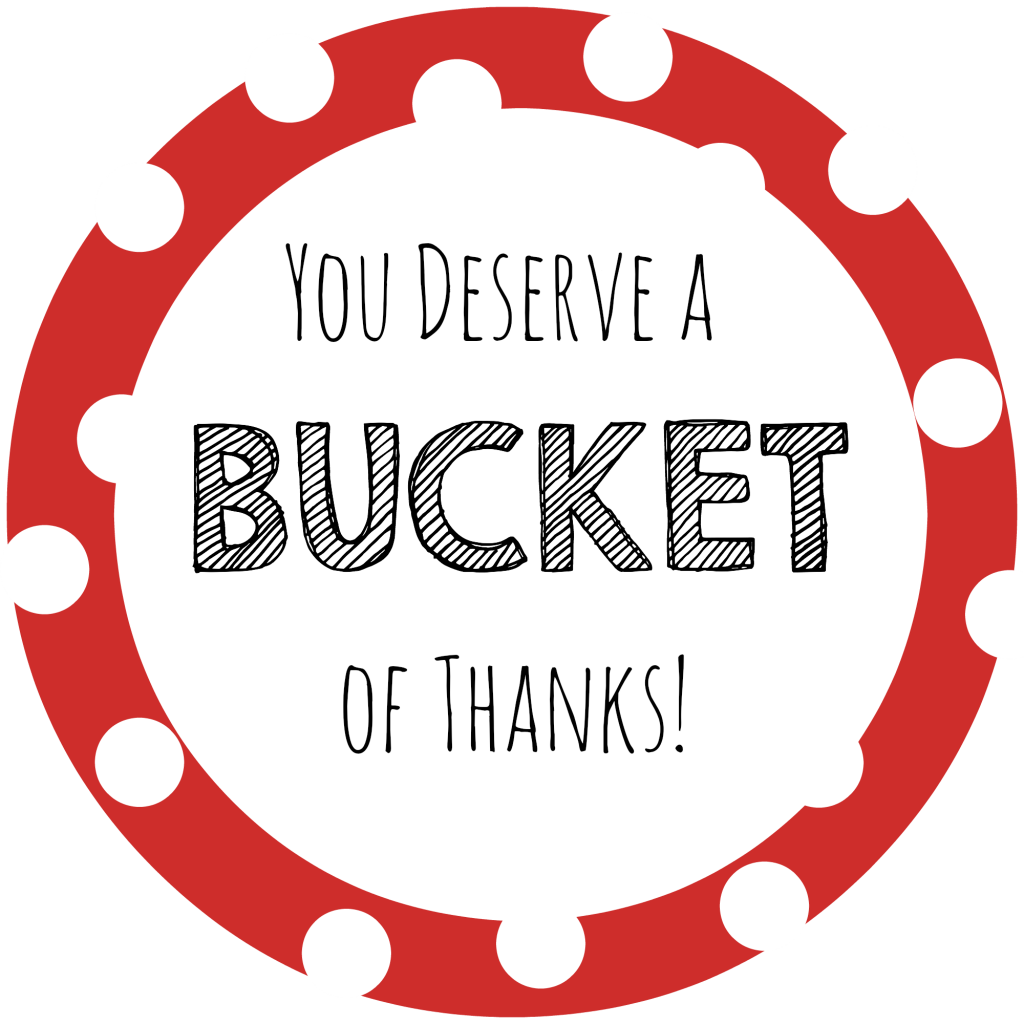 Gift ideas bucket of. Thanks clipart thank you card