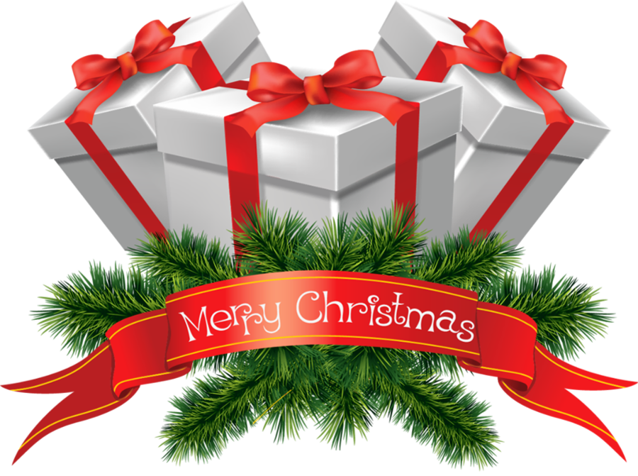 Merry clip art gifts. Horseshoe clipart christmas