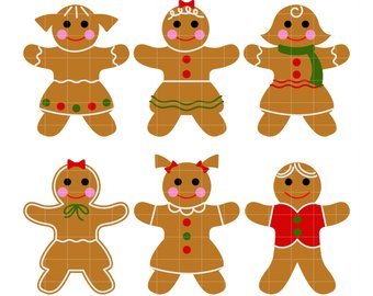 Gingerbread clipart. Etsy winter christmas holiday