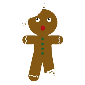 Free clip art image. Gingerbread clipart