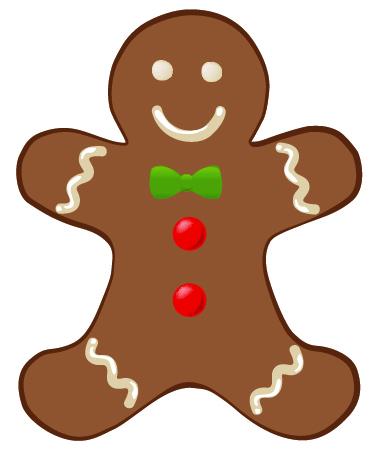Gingerbread clipart. Man clip art clipartix