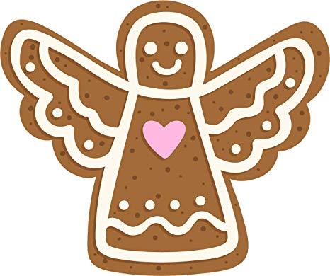 Amazon com cute iced. Gingerbread clipart angel