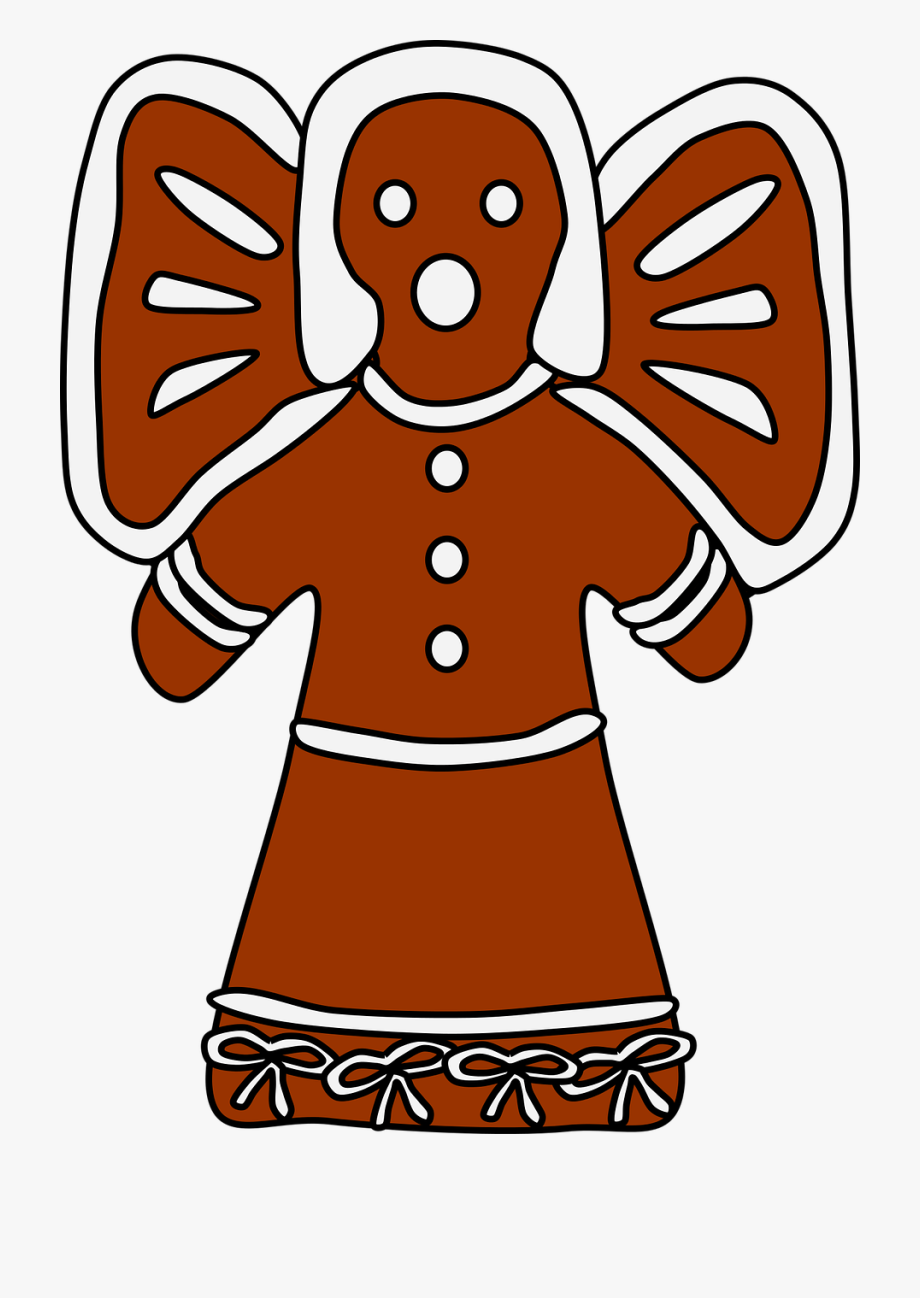 Gingerbread clipart angel. The man house computer