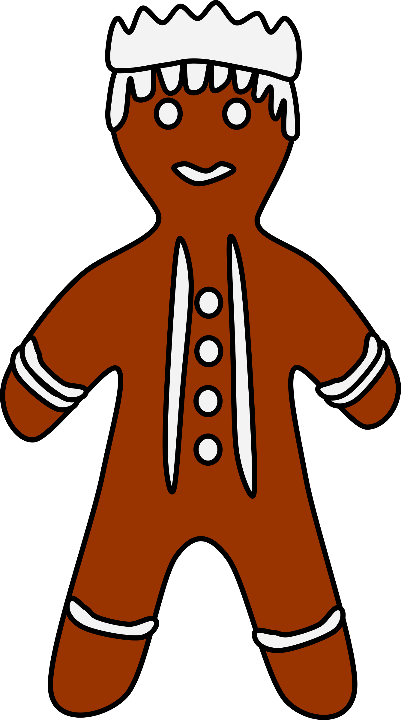 Gingerbread wiseman big image. King clipart wise man