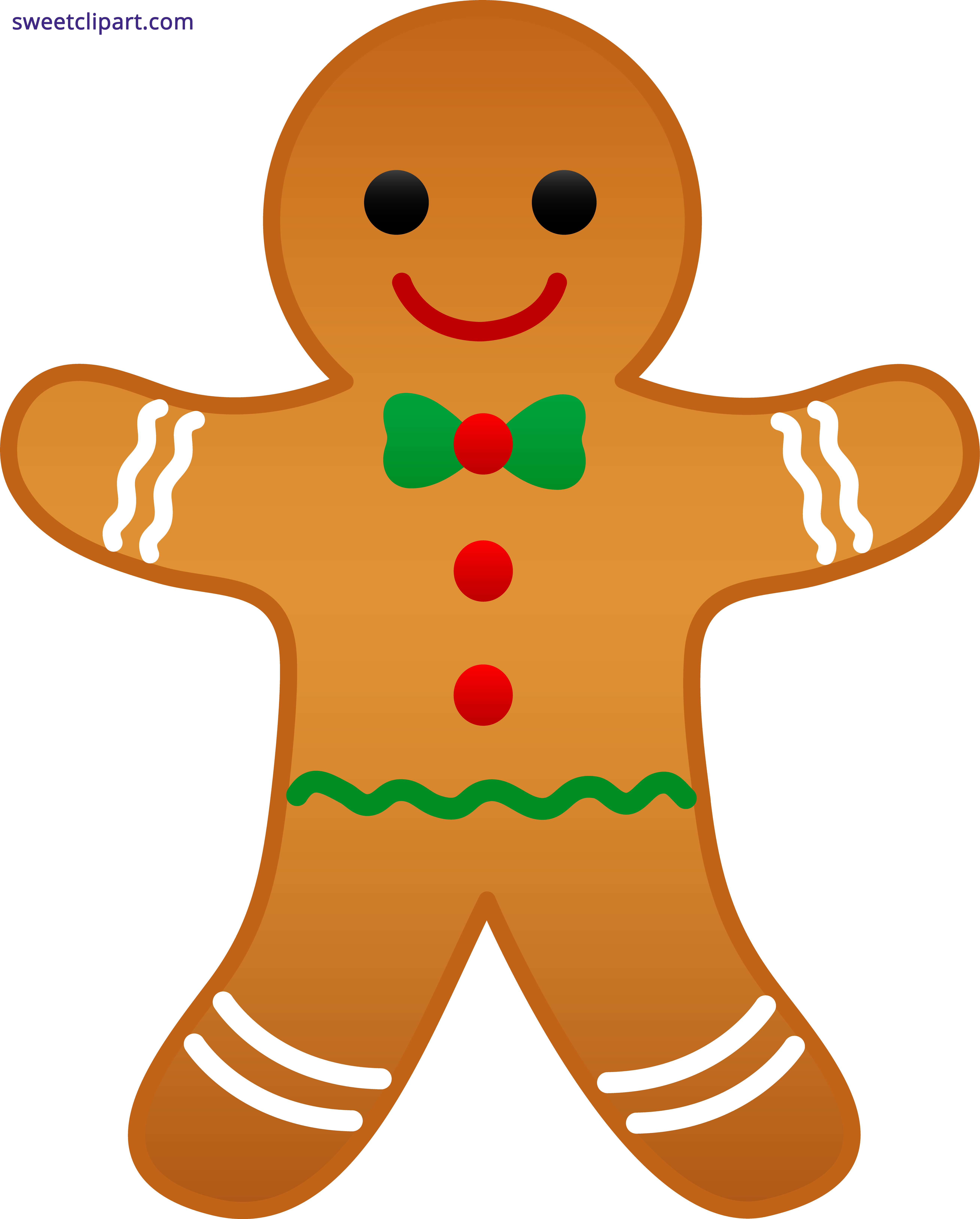 Gingerbread clipart big. Free christmas animated clip