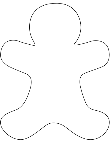 Gingerbread clipart blank. Man coloring page free