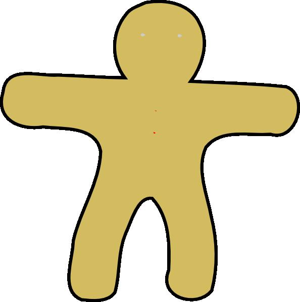 Man clip art at. Gingerbread clipart blank