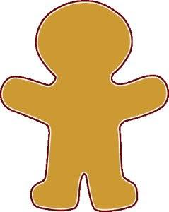 Man clip art panda. Gingerbread clipart blank