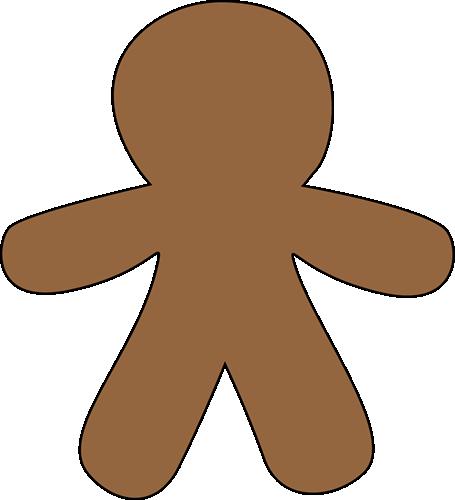 Gingerbread clipart blank. Man clip art image