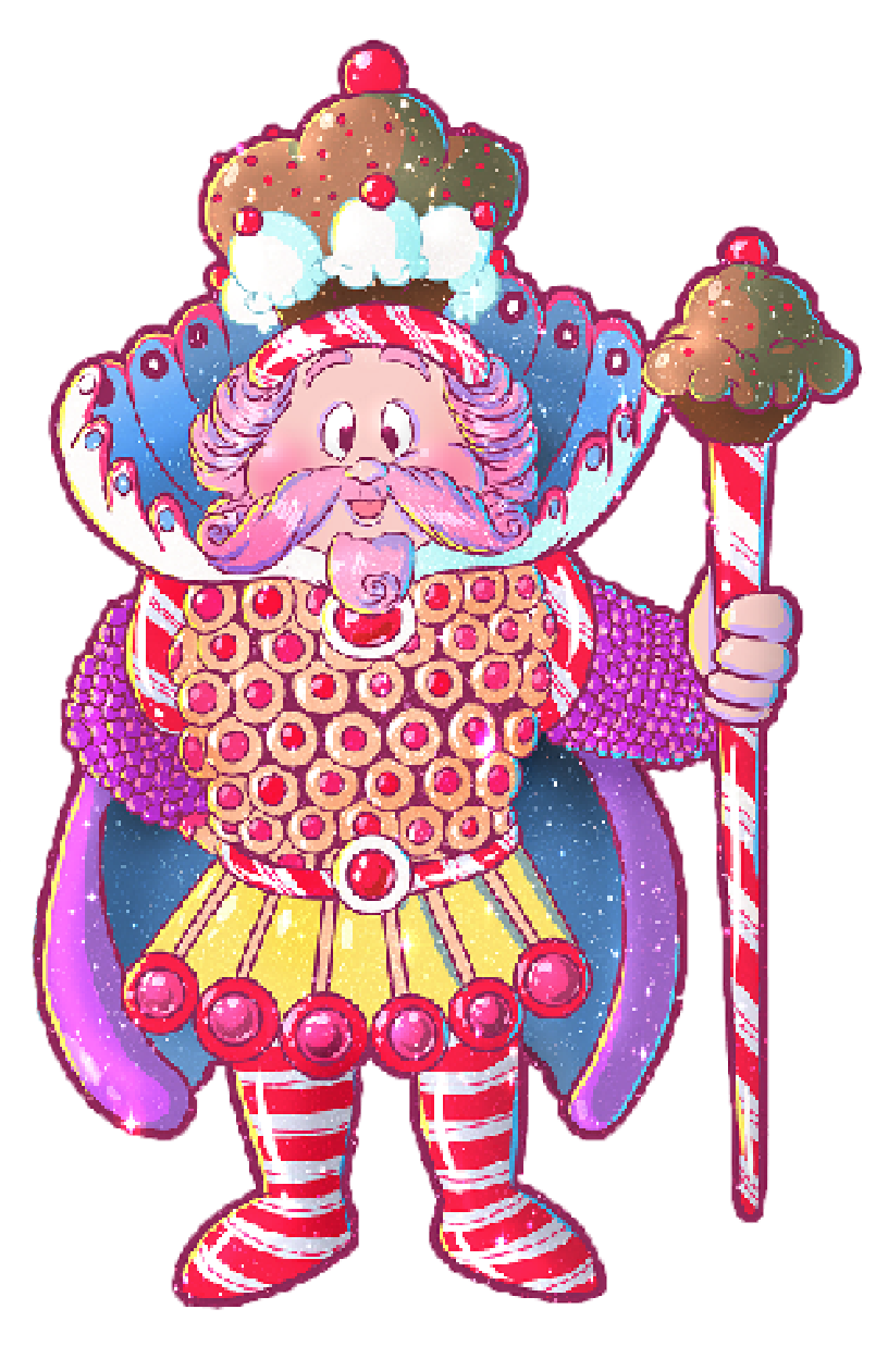 Candy land coloring book. Gingerbread clipart candyland