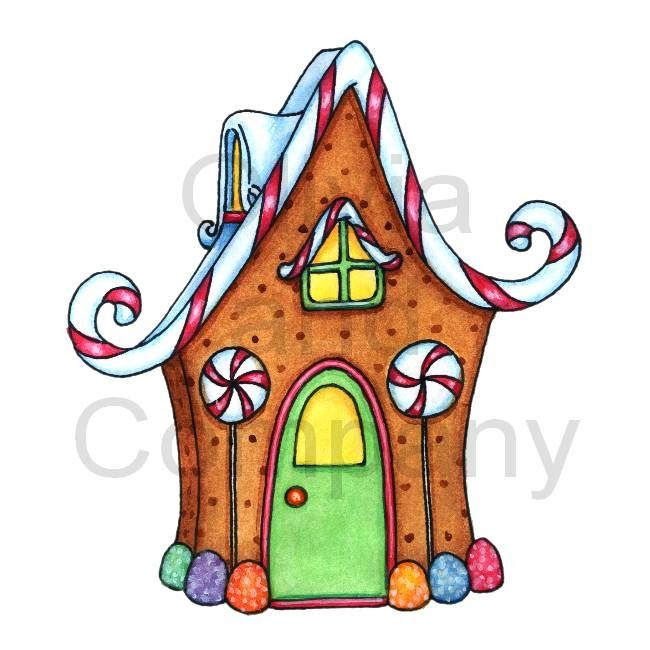 Drawings of houses . Gingerbread clipart chocolate house