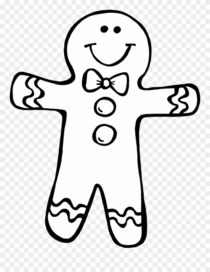 Gingerbread clipart coloring page. Secrets girl i just