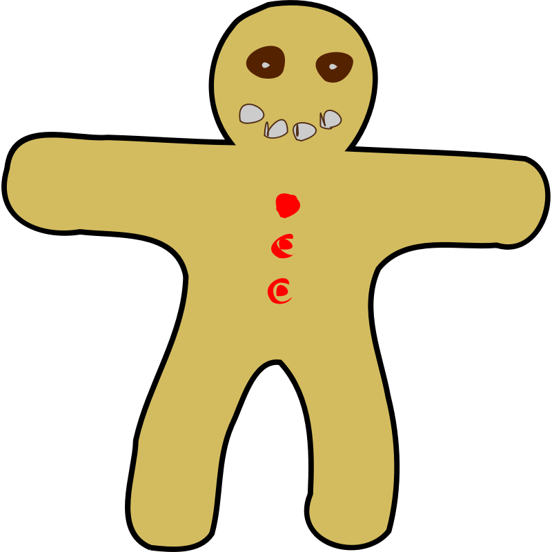 Gingerbread clipart couple. Woman at getdrawings com