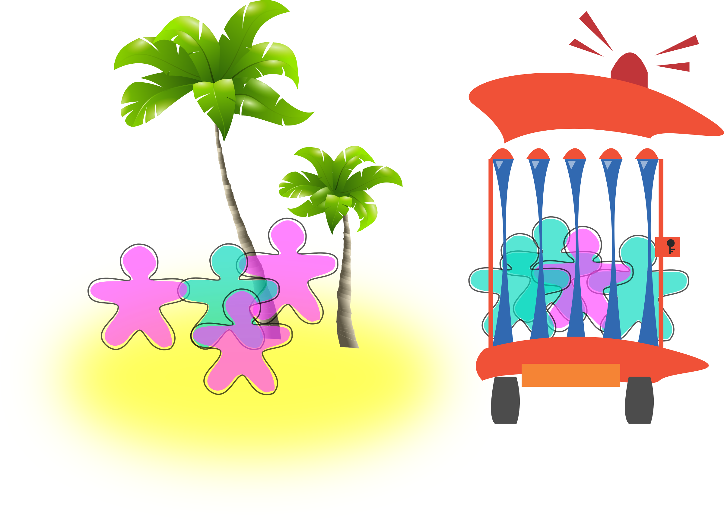 Paradise and prison big. Gingerbread clipart couple