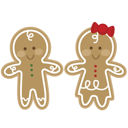 Pin on images winter. Gingerbread clipart couple