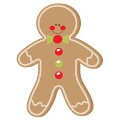 Gingerbread clipart cut out.  best clip art