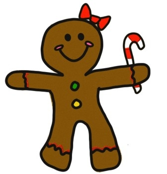 Gingerbread clipart december. X free clip art