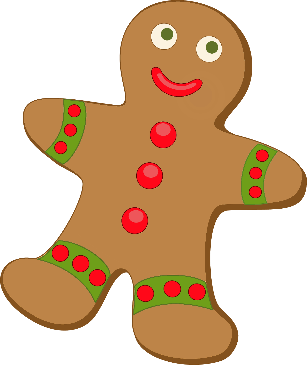 Gingerbread clipart december. House free at getdrawings