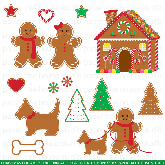 Gingerbread clipart dog. Man clip art house