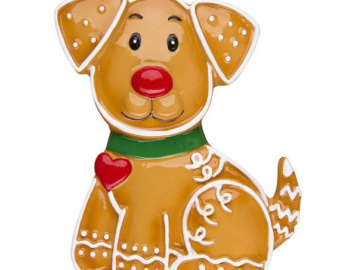 . Gingerbread clipart dog