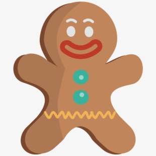 Gingerman man face . Gingerbread clipart easy