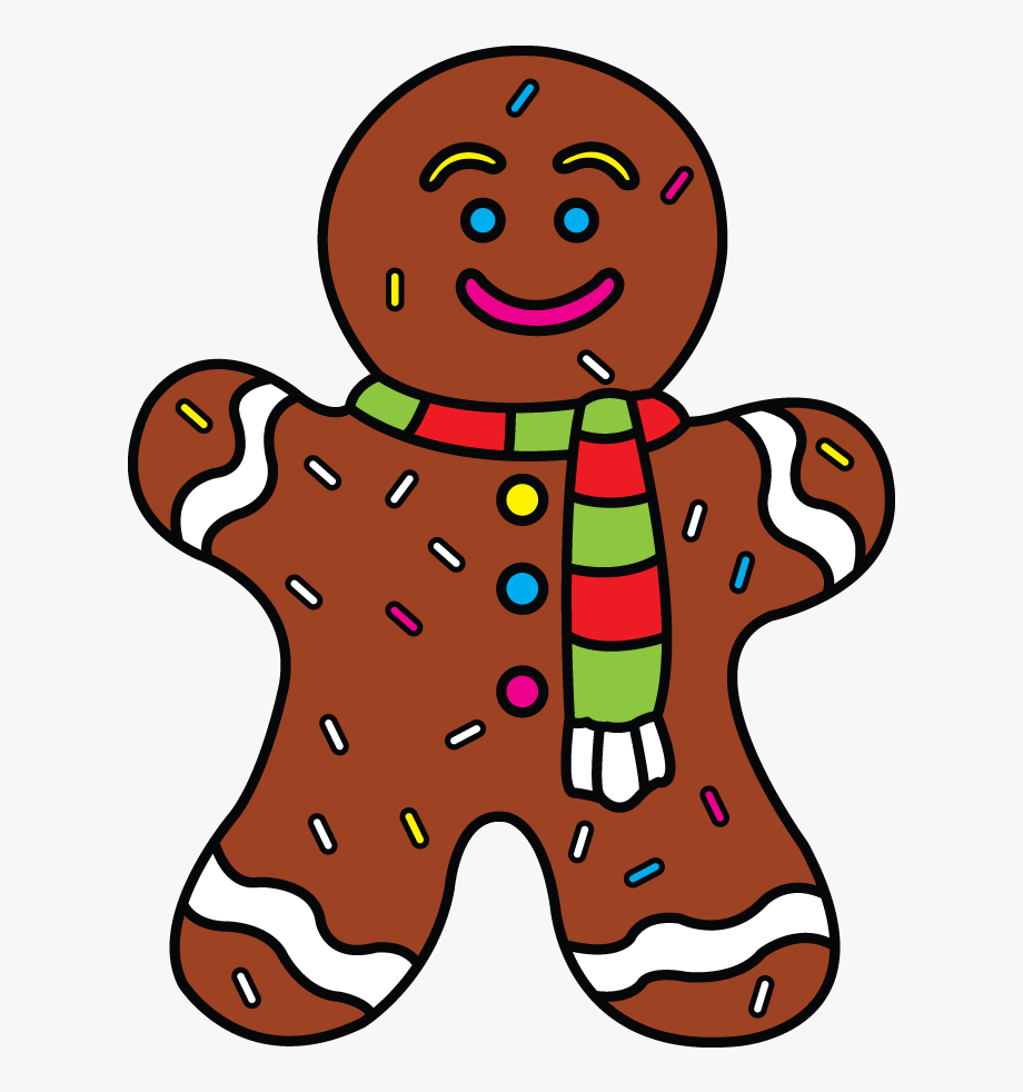 Gingerbread clipart easy. Guided drawing man of