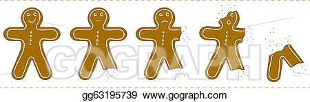 Gingerbread clipart eaten. Vector man being