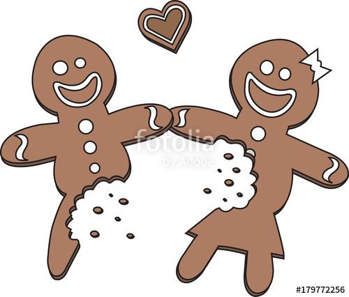 Gingerbread clipart eaten. Half man and woman