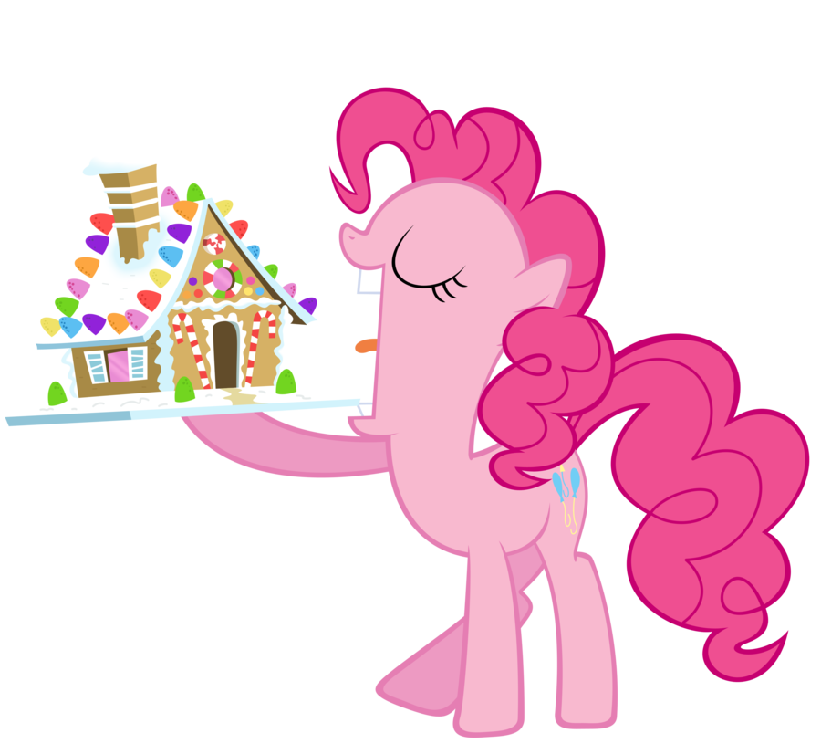 Pinkie pie and her. Gingerbread clipart eaten