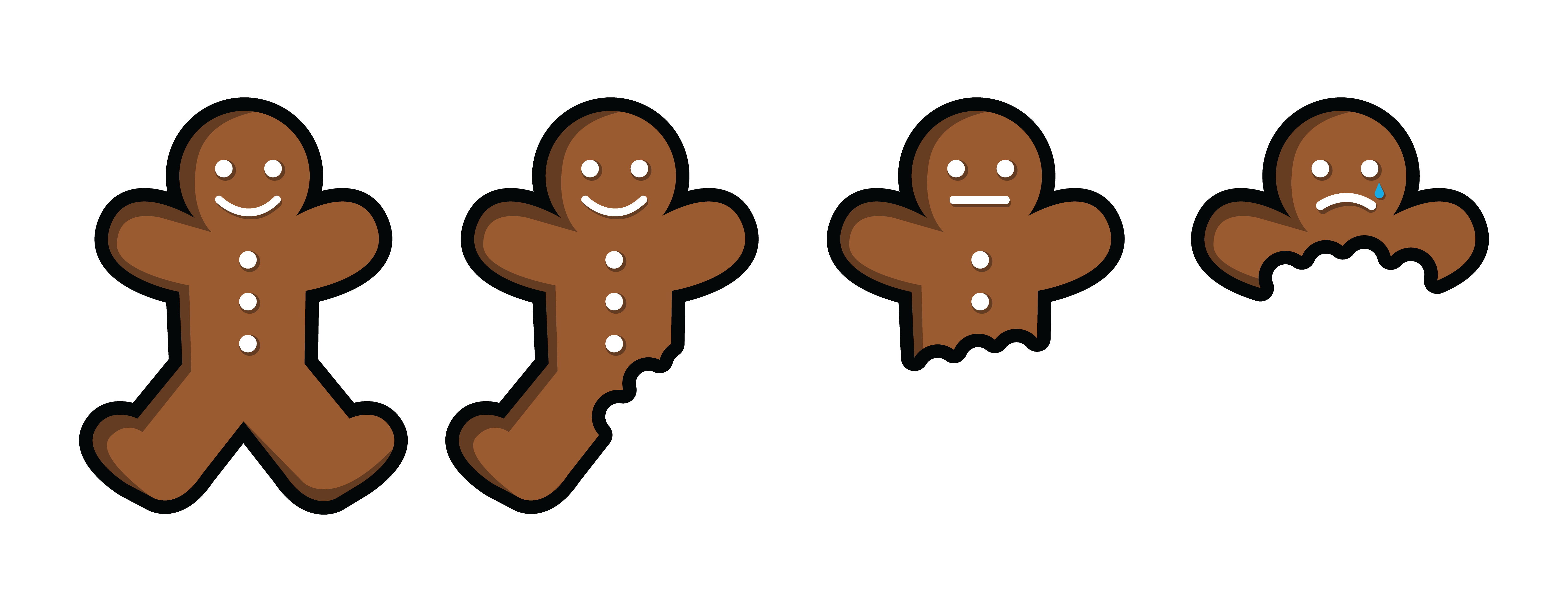 Ginger bread picture free. Gingerbread clipart eaten