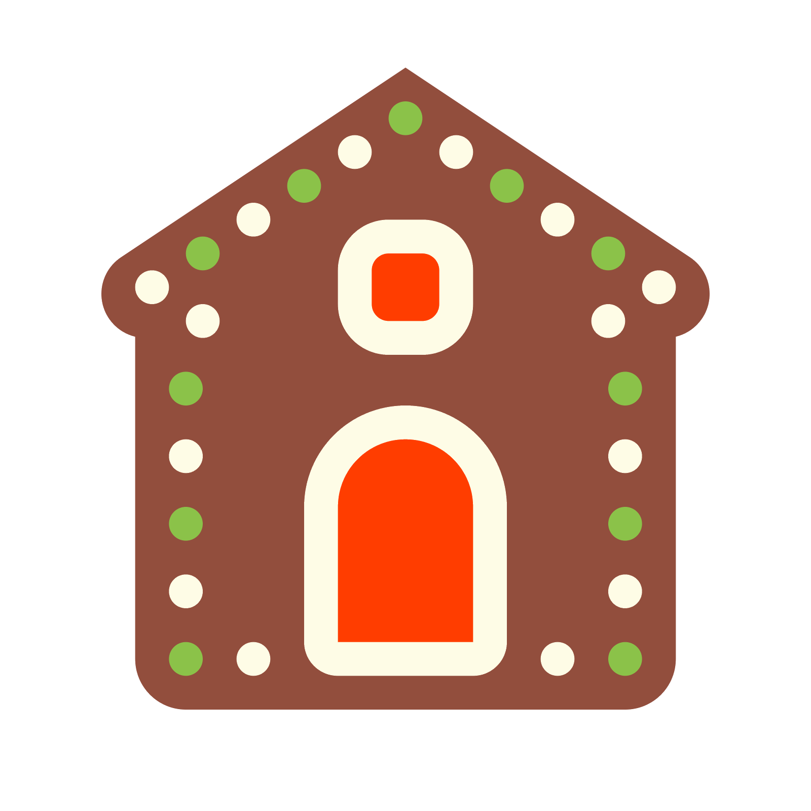 Gingerbread clipart festive. House icon free download
