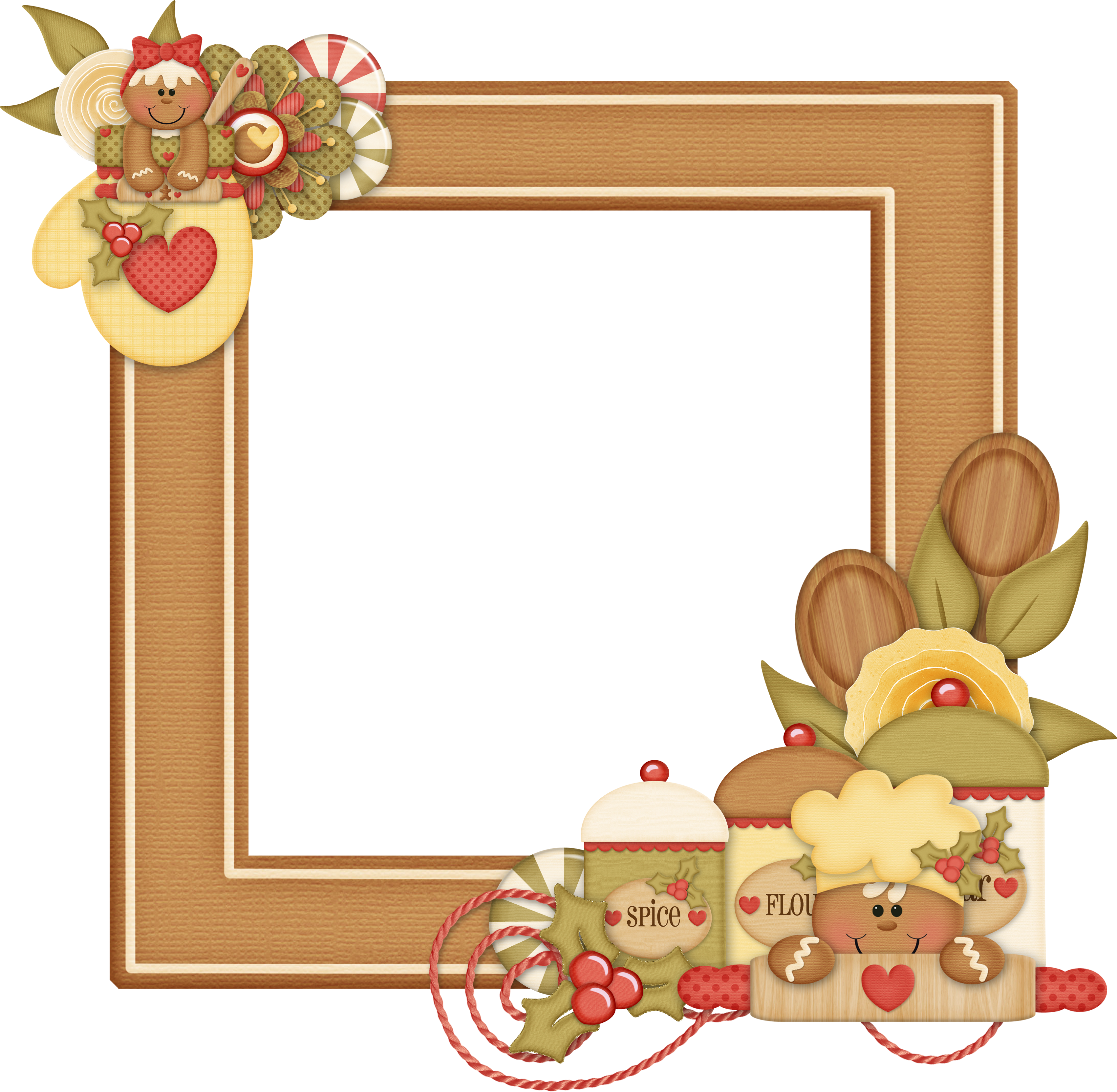 Pin by ana lumbreras. Gingerbread clipart frame