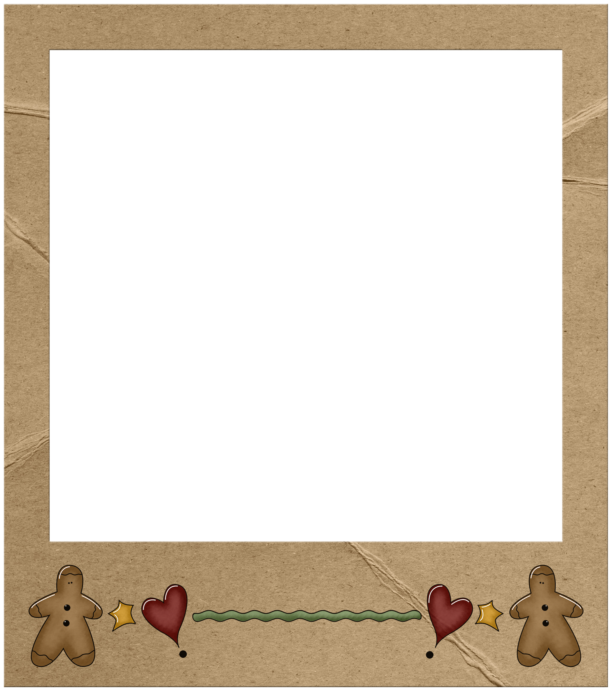 Clip art pinterest. Gingerbread clipart frame