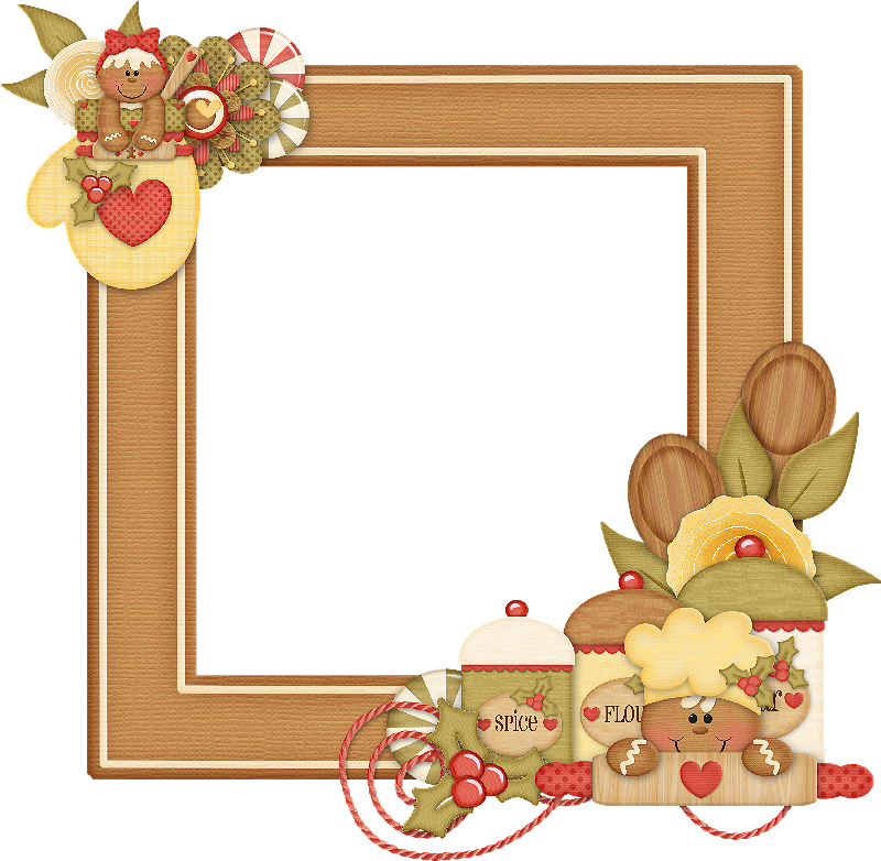 Gingerbread clipart frame. Ginger navidad galletitas de