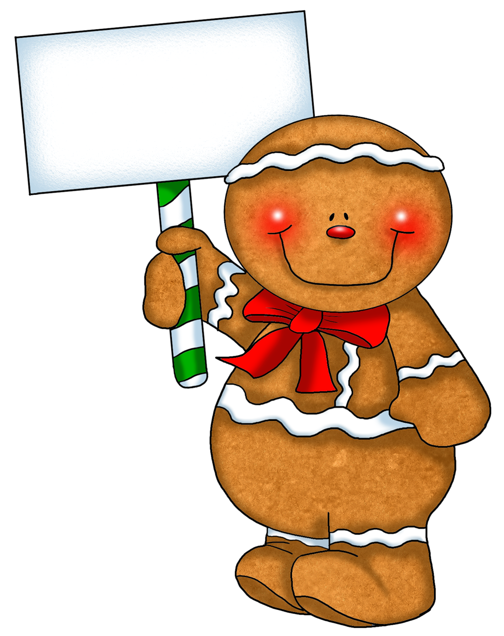 Gingerbread clipart frame. Transparent ornament with empty