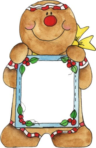 Gingerbread clipart frame. Free border cliparts download
