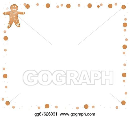 Vector art traditional christmas. Gingerbread clipart frame