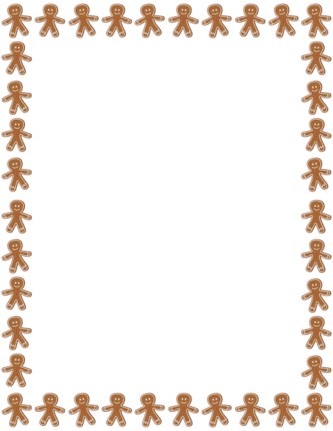 Gingerbread clipart frame. Pin by muse printables