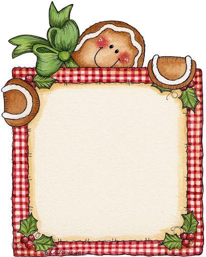 Christmas clip art . Gingerbread clipart frame
