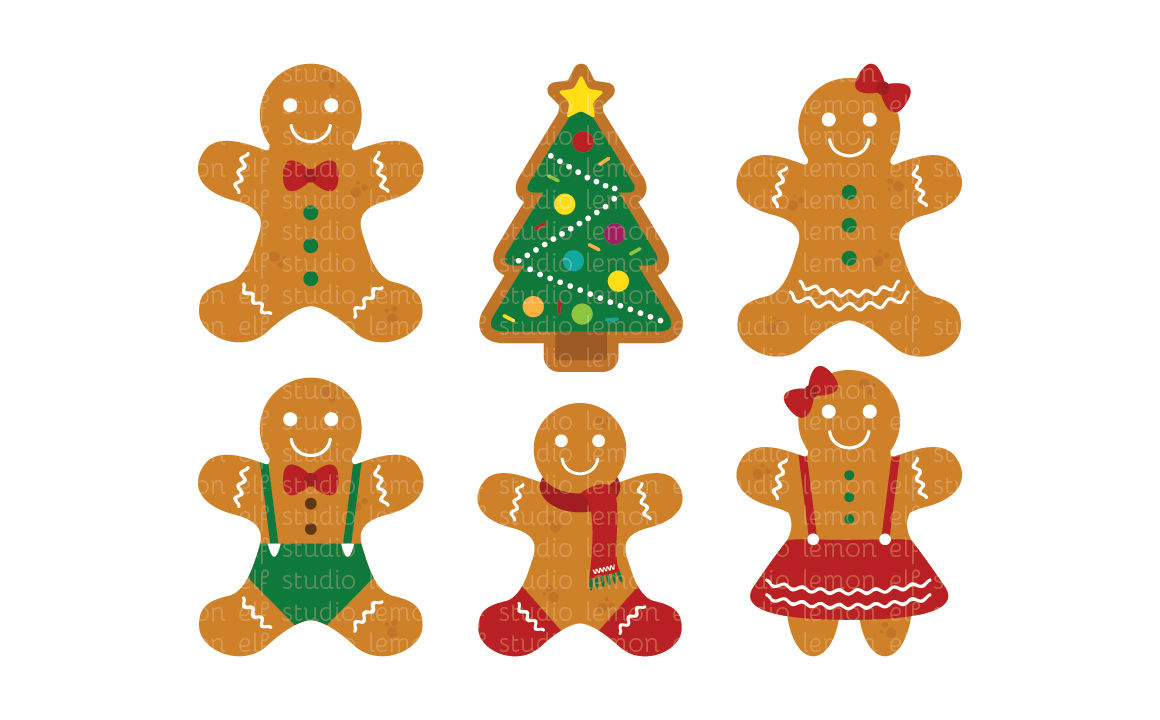 Digital les cl by. Gingerbread clipart gingerbread tree