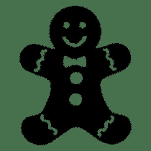 The man christmas card. Gingerbread clipart head
