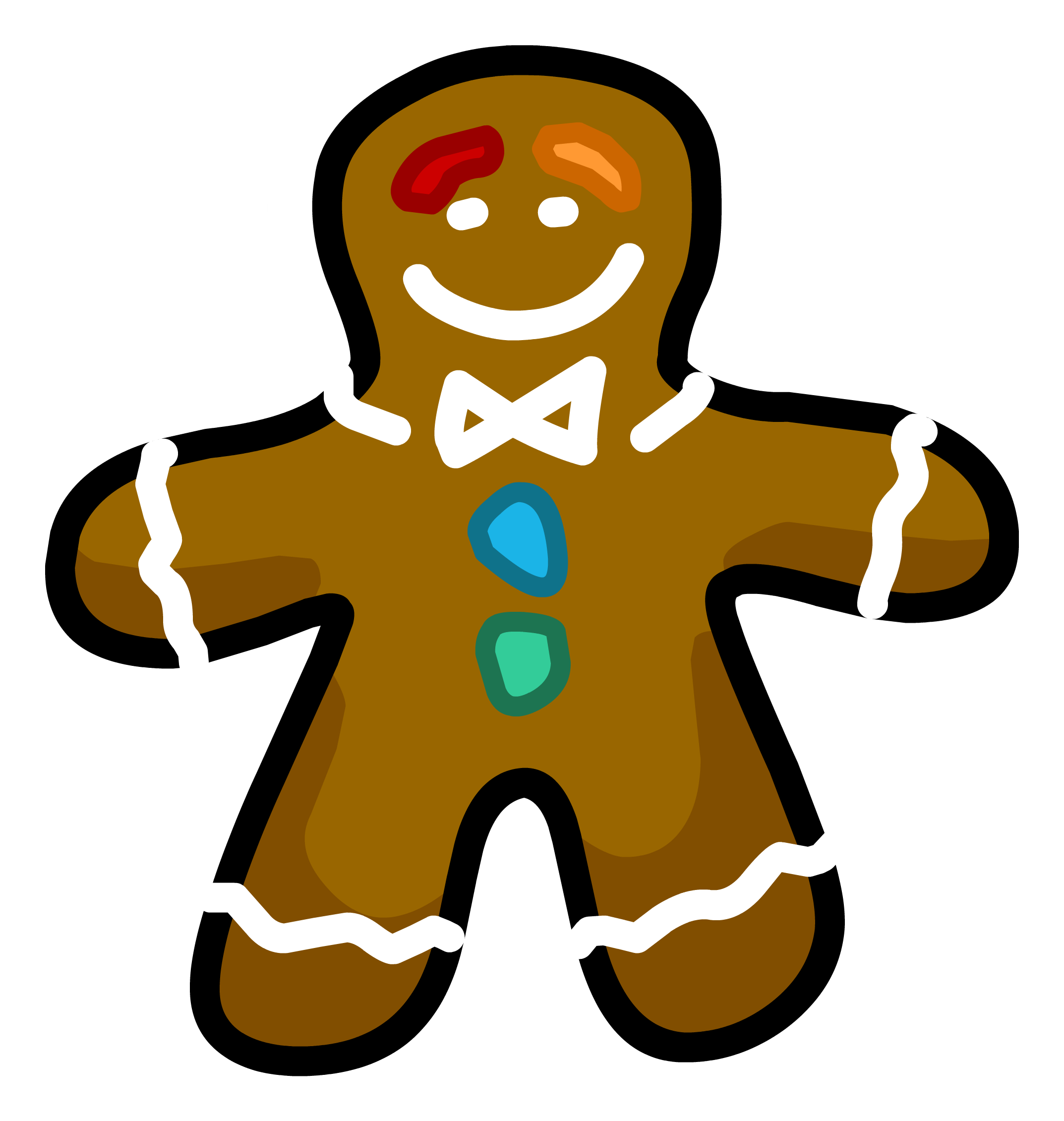 Gingerbread clipart horizontal. Image man pin png