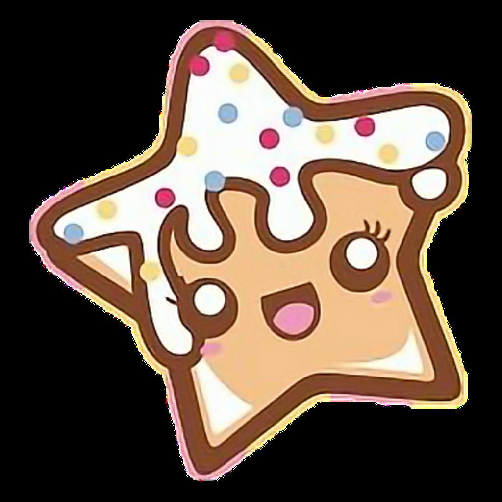Food cookie cute foodkawaii. Gingerbread clipart kawaii