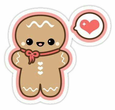 Pin by jennie h. Gingerbread clipart kawaii