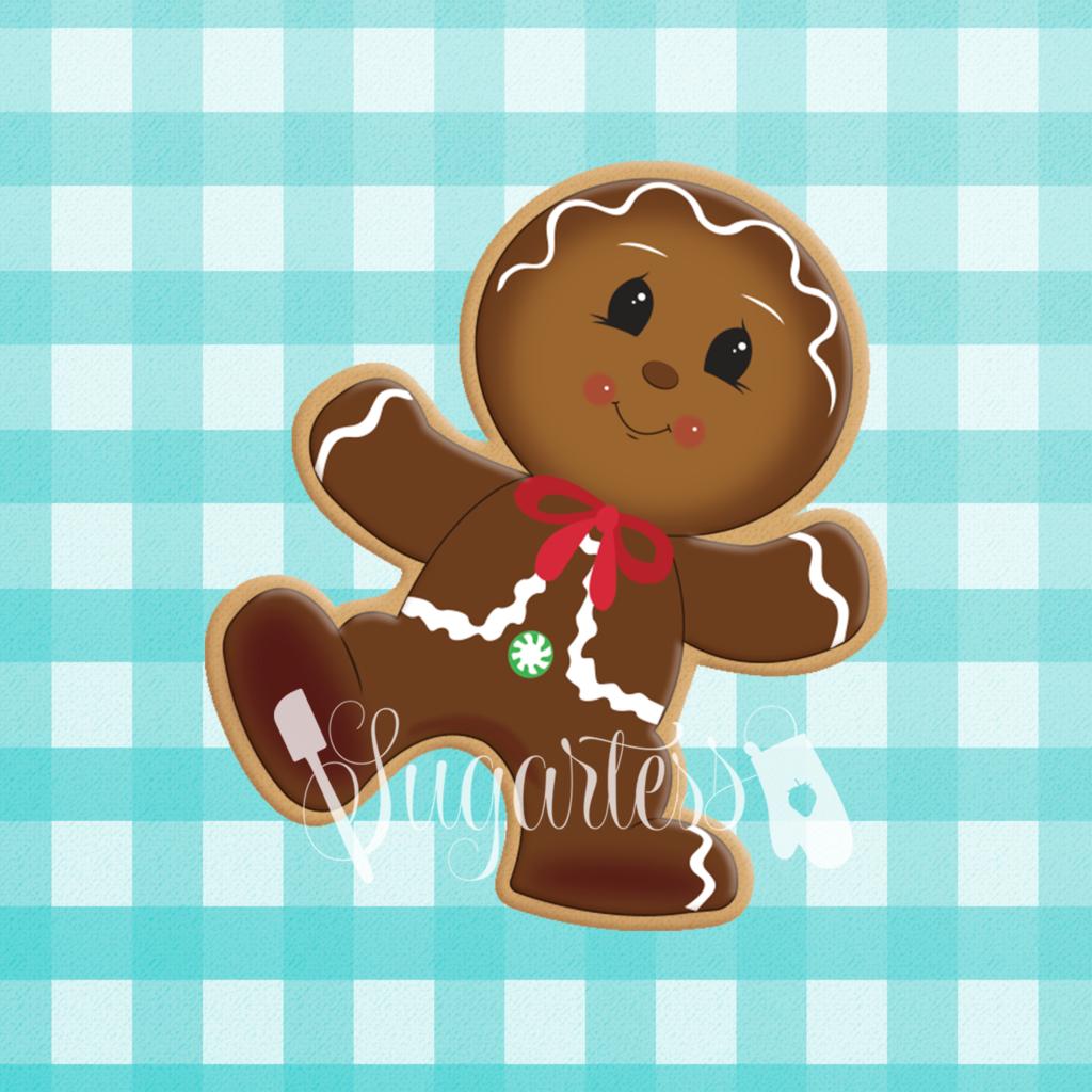 Gingerbread clipart man shape. Dancing