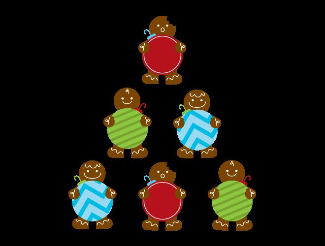 Men wall decal weedecor. Gingerbread clipart man shape