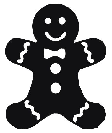 Gingerbread clipart man shape. Ginger bread shapes christmas