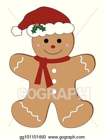 Vector man . Gingerbread clipart merry christmas